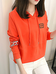 cheap -Women's Petite To-Go Vintage Hoodie Print Hooded Without Lining Hoodies Stretchy Polyester Long Sleeve Fall/Autumn