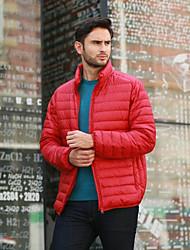 Pánské S vycpávkou Jednoduchý Běžné/Denní Jednobarevné-Kabát Bavlna Akryl Jiné Dlouhý rukáv