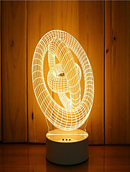 cheap -1 Set Of 3D Mood Night Light Hand Feeling Dimmable USB Powered Gift Lamp Ring
