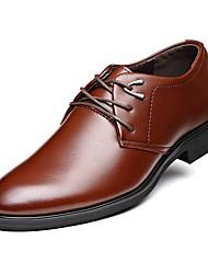 Недорогие -Муж. обувь Кожа Весна / Осень Удобная обувь Туфли на шнуровке Черный / Коричневый / Для вечеринки / ужина