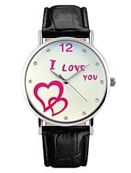 Недорогие -SKMEI Для пары Кварцевый Спортивные часы Японский Защита от влаги Крупный циферблат Повседневные часы Натуральная кожа Группа Роскошь На