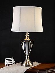 Недорогие -Художественный Защите для глаз Настольная лампа Назначение Хрусталь 220 Вольт Белый