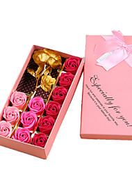 baratos -Flores artificiais 1 Ramo Luxo / Festa Rosas Flor de Mesa