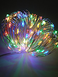 cheap -Waterproof 100 LEDs 10M String Light Warm White Cold White Color-changing Purple Red Blue Yellow Green Decorative USB Powered