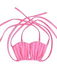 baratos -The Little Mermaid Bikini Crianças Natal Baile de Máscaras Festival / Celebração Trajes da Noite das Bruxas Roxo Rosa claro Sólido Estilo