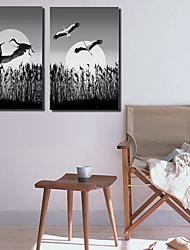 Недорогие -Наборы холстов Классика,2 панели Холст С картинкой Декор стены Украшение дома