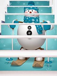 Недорогие -Рождество Мультипликация Наклейки Корпус Простые наклейки 3D наклейки Декоративные наклейки на стены Свадебные наклейки, Винил Бумага