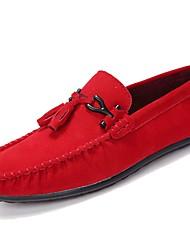 preiswerte -Herrn Schuhe PU Wildleder Nubukleder Frühling Herbst Mokassin Komfort Loafers & Slip-Ons für Normal Braun Rot Grün Blau Khaki
