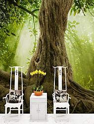 abordables -arbres/Feuilles Décoration artistique 3D Décoration d'intérieur Moderne Rustique Revêtement, Toile Matériel adhésif requis Mural, Couvre