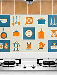 Alta qualidade Cozinha Autocolantes à prova de óleo,Alumínio 45*75