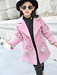 preiswerte -Mädchen Jacke & Mantel Solide Rote Rosa