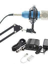baratos -KEBTYVOR BM800 Com Fio Microfone Conjuntos Microfone Condensador Profissional Para PC