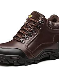Недорогие -Муж. обувь Кожа Осень / Зима Удобная обувь Спортивная обувь Для пешеходного туризма Черный / Кофейный / Для вечеринки / ужина