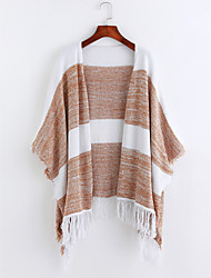 cheap -Women's Long Sleeves Flare Sleeve Cardigan - Striped