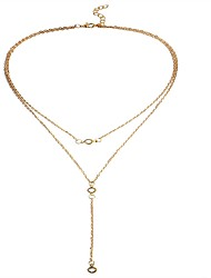 cheap -Women's Crystal Pendant Necklace / Layered Necklace  -  Crystal Fashion Gold, Silver Necklace For Holiday, Going out
