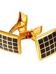 Недорогие -Square Shape Серебряный Золотой Запонки Латунь Для отдыха Для вечеринок Свидание Муж. Бижутерия