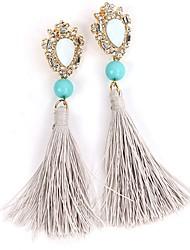 abordables -Mujer Pendientes colgantes Cristal Vintage Étnico Plástico duro Cuerda Legierung Forma de Línea Joyas Diario Noche