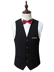 cheap -Men's Cotton Slim Vest - Solid Colored