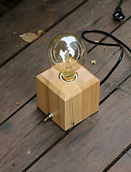 cheap -Artistic Mini Style Table Lamp For Wood/Bamboo 220V Dark Yellow