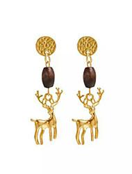 Недорогие -Жен. Серьги-слезки Животные Мода европейский деревянный Сплав Elk Бижутерия Повседневные Бижутерия