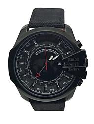 Pánské Náramkové hodinky čínština Křemenný Velký ciferník Kůže Materiál Kapela Na běžné nošení Cool Černá Červená Hnědá Zelená Tyrkysová