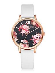 preiswerte -Damen Quartz Armbanduhr Chinesisch Armbanduhren für den Alltag PU Band Retro Freizeit Elegant Schwarz Weiß Blau Rot Braun Rosa Beige Rose