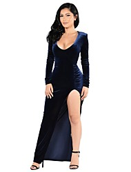 cheap -Women's A Line Dress - Solid High Waist Maxi