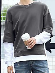 cheap -Men's Plus Size Sweatshirt - Color Block