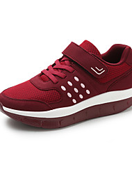 cheap -Women's Shoes Leatherette Fall Winter Comfort Athletic Shoes Fitness & Cross Training Shoes Low Heel Round Toe for Athletic Gray Red Blue