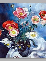 Недорогие -Hang-роспись маслом Ручная роспись - Натюрморт Классика холст