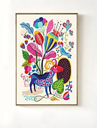 economico -Romanticismo Ad olio Decorazioni da parete,Plastica Materiale con cornice For Decorazioni per la casa Cornice Salotto