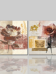 cheap -Canvas Print Comtemporary Classic Rustic Modern, Two Panels Canvas Square Print Wall Decor Home Decoration