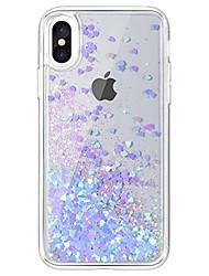 Недорогие -Назначение iPhone X iPhone 8 iPhone 7 Чехлы панели Движущаяся жидкость Прозрачный Задняя крышка Кейс для Сияние и блеск Твердый Акриловое