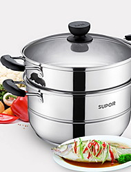cheap -Stainless steel Plastic Flat Pan Multi-purpose Pot,28*25