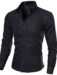 cheap -Men's Business Street chic Slim Shirt - Solid Colored
