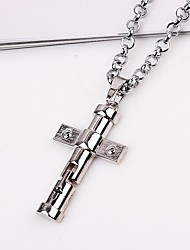 cheap -Men's Pendant Necklace / Chain Necklace - Cross Classic, Ethnic Silver Necklace One-piece Suit For Gift, Daily