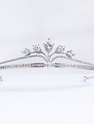 cheap -Cubic Zirconia Copper Tiaras with / 1pc Wedding Party / Evening Headpiece