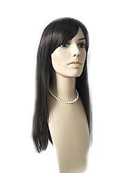 Недорогие -Парики из искусственных волос Естественные прямые С чёлкой Искусственные волосы Природные волосы / С Bangs Черный Парик Жен. Длинные
