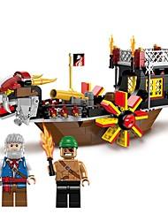 cheap -ENLIGHTEN Building Blocks 345pcs Pirate Beach Theme / Nautical / Ship Non Toxic Boat Boys' Gift