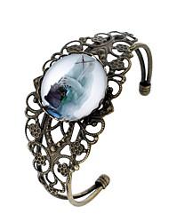 abordables -Femme Adorable Manchettes Bracelets - Basique Européen Forme de Cercle Arc-en-ciel Bracelet Pour Travail Festival