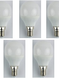 cheap -5pcs 4W E14 LED Globe Bulbs G45 6 leds SMD 3528 Warm White 310lm 3000K AC 180-240V