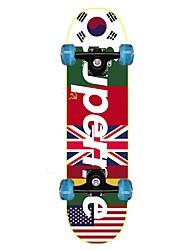 Недорогие -22 дюймы Стандартные скейтборды На каждый день Спортивный ACDE-9-Черный Красный Синий