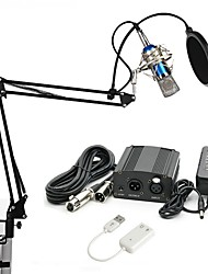 cheap -KEBTYVOR BM700 Wired Microphone Sets Condenser Microphone Professional For PC, Notebooks and Laptops