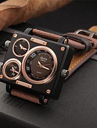 economico -Per uomo Orologio casual Orologio alla moda Orologio elegante Cinese Quarzo Cronografo Tre fusi orari Orologio casual Quadrante grande