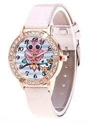baratos -Mulheres Quartzo Relógio de Pulso Chinês N / D PU Banda Luxo Casual Preta Branco Azul Vermelho Rosa Roxa Cáqui