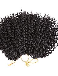 preiswerte -Häkelhaare 3pcs / pack Haarzöpfe Locken Federnd Locken 8 Zoll Kunststoff Natürlich Schwarz Rotblond Medium Auburn Geflochtenes Haar