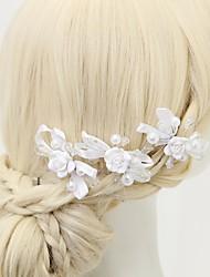 billige -Krystal / Imiteret Perle / Legering Hair Pin med 3 Bryllup / Speciel Lejlighed Medaljon