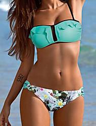 abordables -Femme Bikinis - Imprimé, Couleur Pleine