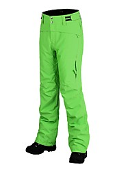 abordables -Hombre Pantalones de Esquí Templado, Impermeable, Resistente al Viento Esquí Raso de Terciopelo Pantalones de babero de nieve Ropa de
