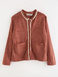 cheap -Girls' Solid Suit & Blazer,Cotton Brown Green